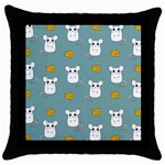 Cute Mouse Pattern Throw Pillow Case (Black) Front