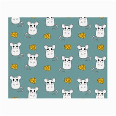 Cute Mouse Pattern Small Glasses Cloth by Valentinaart