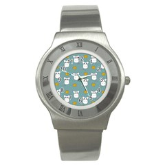 Cute Mouse Pattern Stainless Steel Watch