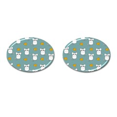 Cute Mouse Pattern Cufflinks (oval) by Valentinaart