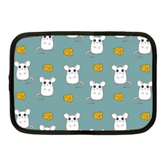 Cute Mouse Pattern Netbook Case (medium)  by Valentinaart