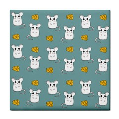 Cute Mouse Pattern Face Towel by Valentinaart