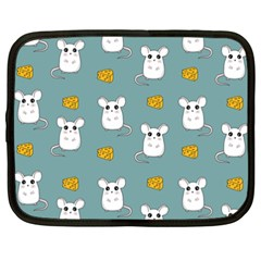 Cute Mouse Pattern Netbook Case (xxl)  by Valentinaart