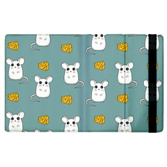 Cute Mouse Pattern Apple Ipad 2 Flip Case by Valentinaart