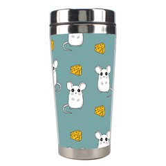 Cute Mouse Pattern Stainless Steel Travel Tumblers by Valentinaart