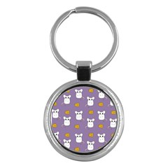 Cute Mouse Pattern Key Chains (round)  by Valentinaart