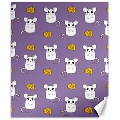Cute Mouse Pattern Canvas 8  X 10  by Valentinaart