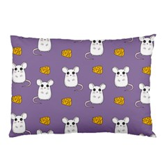 Cute Mouse Pattern Pillow Case by Valentinaart