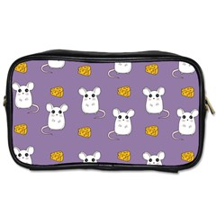 Cute Mouse Pattern Toiletries Bags by Valentinaart