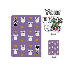 Cute Mouse Pattern Playing Cards 54 (mini)  by Valentinaart