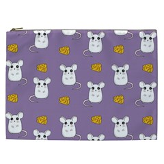 Cute Mouse Pattern Cosmetic Bag (xxl)  by Valentinaart