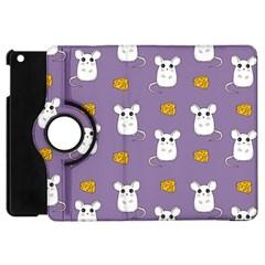 Cute Mouse Pattern Apple Ipad Mini Flip 360 Case by Valentinaart