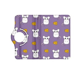 Cute Mouse Pattern Kindle Fire Hd (2013) Flip 360 Case by Valentinaart