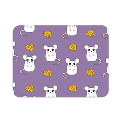 Cute Mouse Pattern Double Sided Flano Blanket (mini)  by Valentinaart