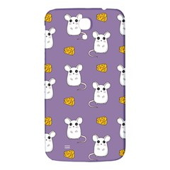 Cute Mouse Pattern Samsung Galaxy Mega I9200 Hardshell Back Case by Valentinaart