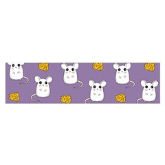 Cute Mouse Pattern Satin Scarf (oblong) by Valentinaart