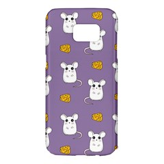 Cute Mouse Pattern Samsung Galaxy S7 Edge Hardshell Case by Valentinaart