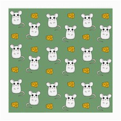Cute Mouse Pattern Medium Glasses Cloth (2 Side) by Valentinaart