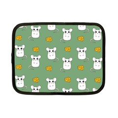 Cute Mouse Pattern Netbook Case (small)  by Valentinaart