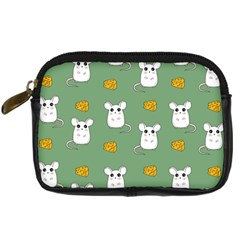 Cute Mouse Pattern Digital Camera Cases by Valentinaart