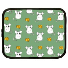 Cute Mouse Pattern Netbook Case (xl)  by Valentinaart