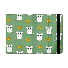 Cute Mouse Pattern Apple Ipad Mini Flip Case by Valentinaart