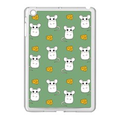 Cute Mouse Pattern Apple Ipad Mini Case (white) by Valentinaart