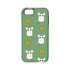 Cute Mouse Pattern Apple Iphone 5 Classic Hardshell Case (pc+silicone) by Valentinaart