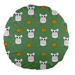Cute Mouse Pattern Large 18  Premium Round Cushions by Valentinaart