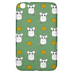 Cute Mouse Pattern Samsung Galaxy Tab 3 (8 ) T3100 Hardshell Case  by Valentinaart