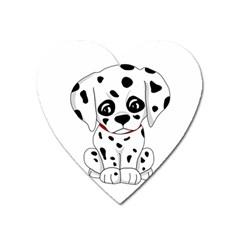 Cute Dalmatian Puppy  Heart Magnet by Valentinaart