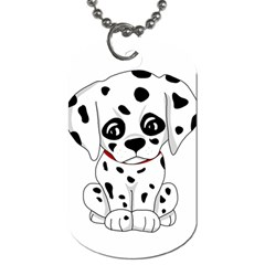 Cute Dalmatian Puppy  Dog Tag (two Sides) by Valentinaart