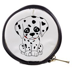 Cute Dalmatian Puppy  Mini Makeup Bags by Valentinaart
