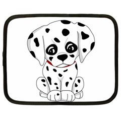 Cute Dalmatian Puppy  Netbook Case (xxl)  by Valentinaart