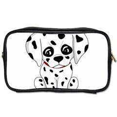 Cute Dalmatian Puppy  Toiletries Bags 2 Side by Valentinaart