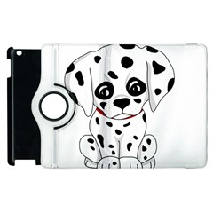 Cute Dalmatian Puppy  Apple Ipad 3/4 Flip 360 Case by Valentinaart