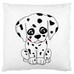 Cute Dalmatian Puppy  Standard Flano Cushion Case (one Side) by Valentinaart