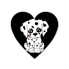 Cute Dalmatian Puppy  Heart Magnet by Valentinaart