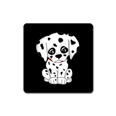 Cute Dalmatian Puppy  Square Magnet by Valentinaart
