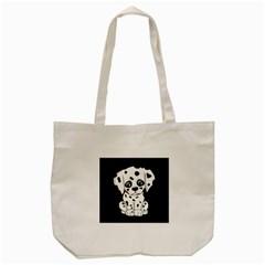 Cute Dalmatian Puppy  Tote Bag (cream) by Valentinaart