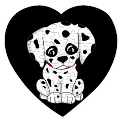 Cute Dalmatian Puppy  Jigsaw Puzzle (heart) by Valentinaart