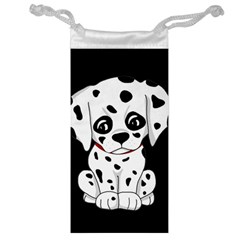 Cute Dalmatian Puppy  Jewelry Bag by Valentinaart