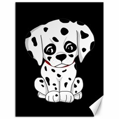 Cute Dalmatian Puppy  Canvas 12  X 16   by Valentinaart