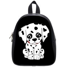 Cute Dalmatian Puppy  School Bag (small) by Valentinaart