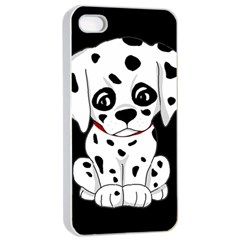 Cute Dalmatian Puppy  Apple Iphone 4/4s Seamless Case (white) by Valentinaart