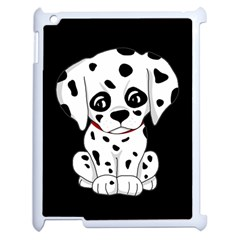Cute Dalmatian Puppy  Apple Ipad 2 Case (white) by Valentinaart