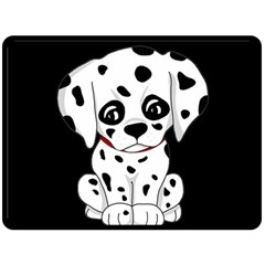 Cute Dalmatian Puppy  Double Sided Fleece Blanket (large)  by Valentinaart