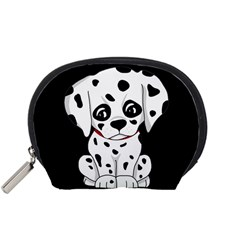 Cute Dalmatian Puppy  Accessory Pouches (small)  by Valentinaart