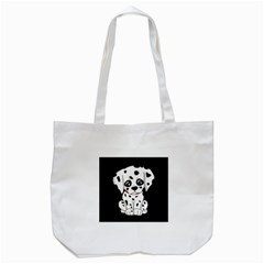 Cute Dalmatian Puppy  Tote Bag (white) by Valentinaart
