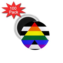 Straight Ally Flag 1 75  Magnets (100 Pack)  by Valentinaart